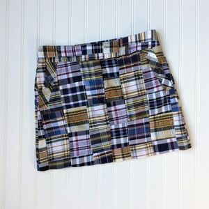 J. Crew Cotton Plaid Squares Mini Skirt Size 2